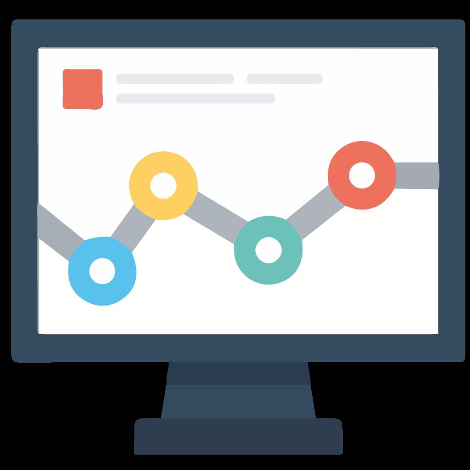 ordenador del digital marketing manager